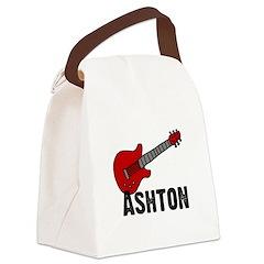 guitar_ashton.jpg Canvas Lunch Bag