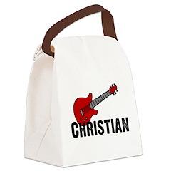 guitar_christian.jpg Canvas Lunch Bag