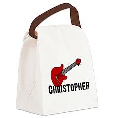 guitar_christopher.jpg Canvas Lunch Bag