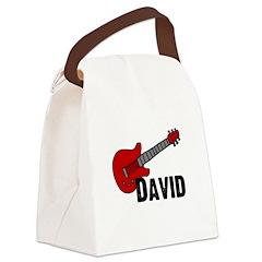 guitar_david.jpg Canvas Lunch Bag