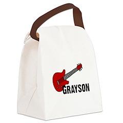 guitar_grayson.jpg Canvas Lunch Bag