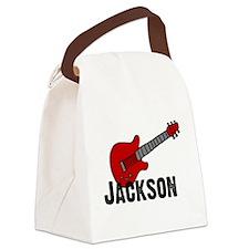 guitarjackson.jpg Canvas Lunch Bag