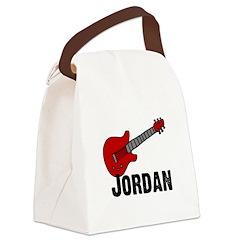 guitar_jordan.jpg Canvas Lunch Bag