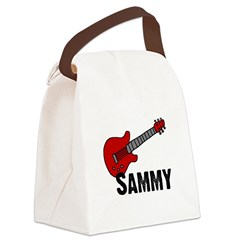 guitar_sammy.jpg Canvas Lunch Bag