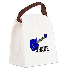 guitar_shane_blue.jpg Canvas Lunch Bag