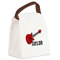 guitar_taylor.jpg Canvas Lunch Bag