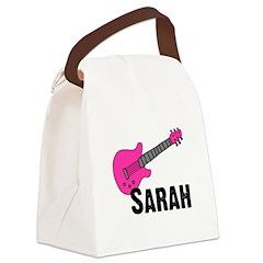 guitar_sarah_pink.png Canvas Lunch Bag