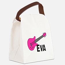 guitar_eva_pink.png Canvas Lunch Bag
