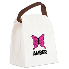 butterfly_AMBER.jpg Canvas Lunch Bag