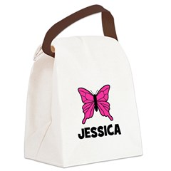 butterfly_JESSICA.jpg Canvas Lunch Bag