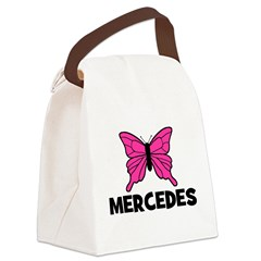 butterfly_MERCEDES.png Canvas Lunch Bag