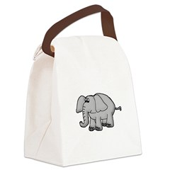 elephant_TR.png Canvas Lunch Bag