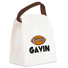 footballgavinblack.jpg Canvas Lunch Bag