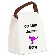 kangaroo_purple_nora1.psp Canvas Lunch Bag