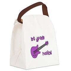 1stgraderocks_purple.png Canvas Lunch Bag