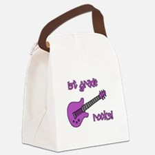 1stgraderocks_purple.png Canvas Lunch Bag