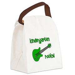 kindergartenrocks_red.png Canvas Lunch Bag