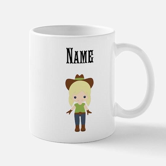Personalize Blonde Cowgirl Mug