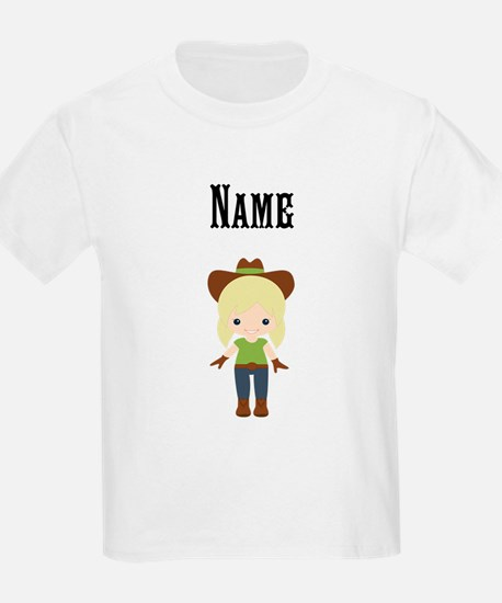 Personalize Blonde Cowgir T-Shirt