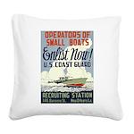 Operators of Small Boats Square Canvas Pillow
