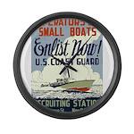 Operators of Small Boats Large Wall Clock