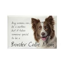 Border Collie Mom Rectangle Magnet