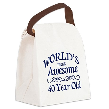 Awesome 40 Year Old Canvas Lunch Bag