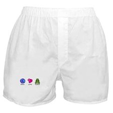 Peace, Love and turtles Boxer Shorts