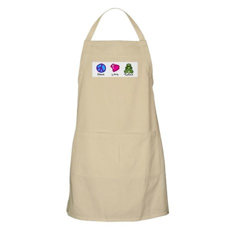 Peace, Love and turtles BBQ Apron