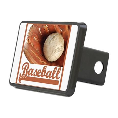 mitt & ball 2 border.png Rectangular Hitch Cover
