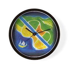 Sharyl Gates musical fun Guitar Island Wall Clock!