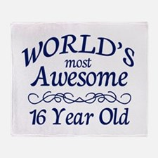 Awesome 16 Year Old Throw Blanket