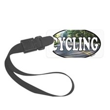 cycling with road.png Luggage Tag