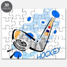 hockey stick puck blue black.png Puzzle