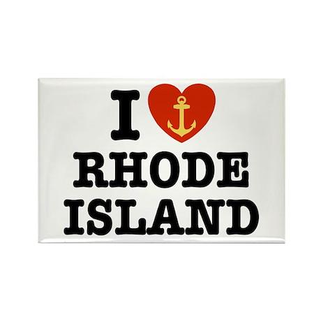 I Love Rhode Island Rectangle Magnet