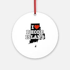 I Love Rhode Island Ornament (Round)