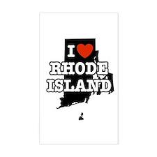 I Love Rhode Island Rectangle Decal