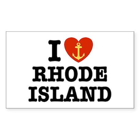 I Love Rhode Island Rectangle Sticker