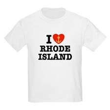 I Love Rhode Island Kids T-Shirt