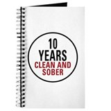 10 years sober Journals & Spiral Notebooks