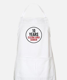 10 Years Clean & Sober BBQ Apron