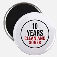 10 Years Clean & Sober Magnet