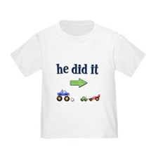 """He Did It"" (Right) Kids T-Shirt T-Shirt"