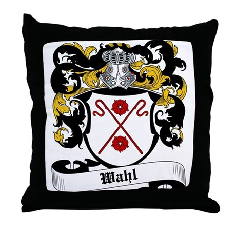 Wahl Coat of Arms Throw Pillow
