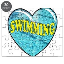 SWIMMING HEART2 black.png Puzzle