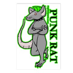Punk Rat Postcards (Package of 8)