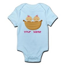 Personalized Twin Girls Infant Bodysuit