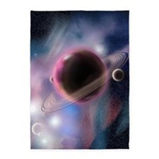 The Purple Planet 5'x7'Area Rug
