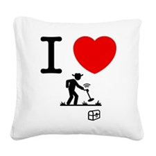 Metal Detecting Square Canvas Pillow