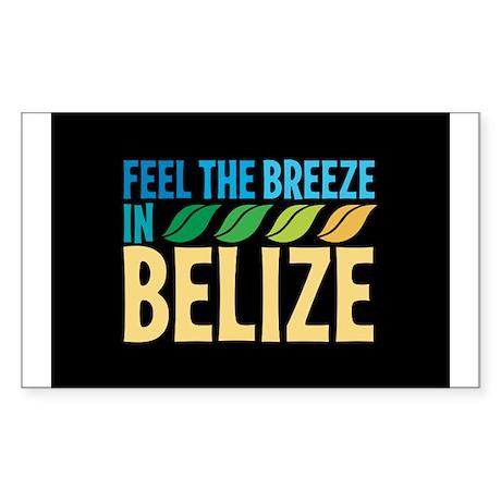 Feel the Breeze in Belize Sticker (Rectangle)